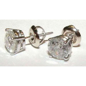 Diamond Stud Women Earrings 3 Carat White Gold Stud Earrings