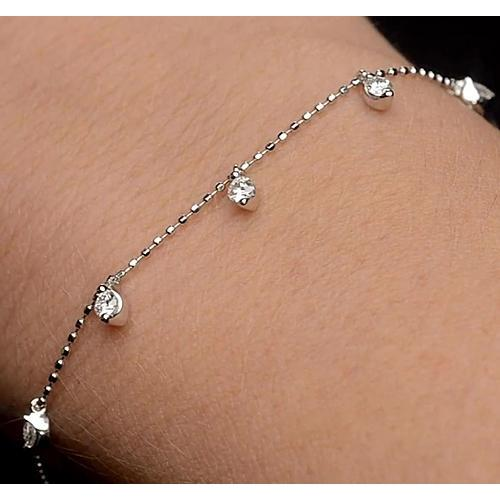 Diamond Tennis Bracelet Prong Set 1.5 Carats Women Jewelry Tennis Bracelet