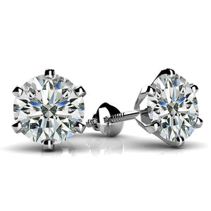 Diamond Women Studs Earring 3 Ct. White Gold Jewelry Stud Earrings