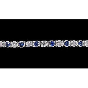 Diamond Women Tennis Bracelet Ceylon Blue Sapphire 4 Carats New Gemstone Bracelet