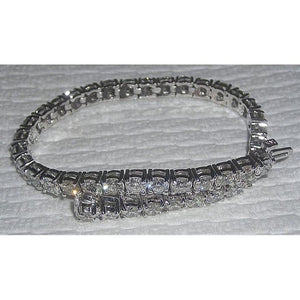 Diamond Women Tennis Bracelet White Gold Sparkling 8.57 Carat Tennis Bracelet