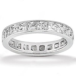 Diamonds F Vs1 Eternity Engagement Band 13.20 Cts. Gold Eternity Band