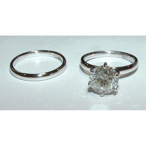 Diamonds Solitaire Ring 2.0 Ct G Vs1 Diamond Gold Engagement Ring Set