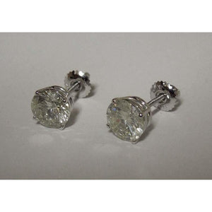 Diamonds Stud Earrings 4 Carats White Gold Earring New Stud Earrings