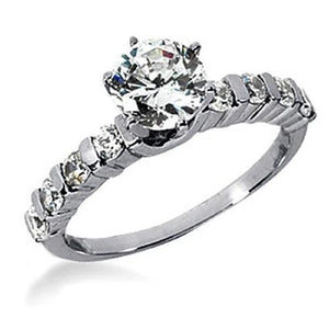 Diamonds Women White Gold Engagement Ring 1.81 Carats G Si1 Engagement Ring