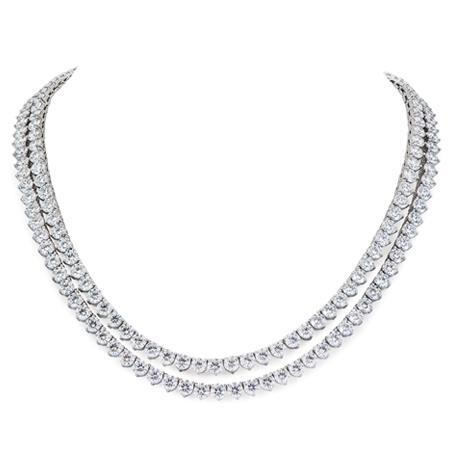 Double Row 5.75 Ct Diamonds Ladies Necklace 14K White Gold New Necklace