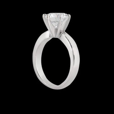Solitaire Ring 3 Carat Sparkling Diamond Solitaire Ring White Gold New