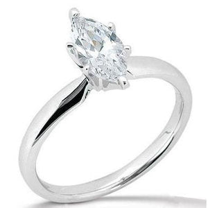 E Vvs1 Marquise 1.75 Ct. Diamond Solitaire Ring New Solitaire Ring