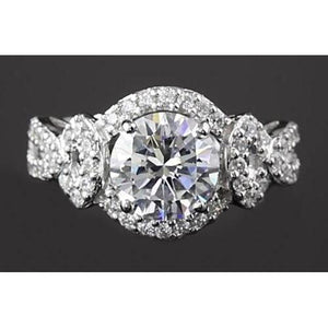 Engagement Ring Round 4 Prong Setting 3.50 Carats Womens' Jewelry Engagement Ring