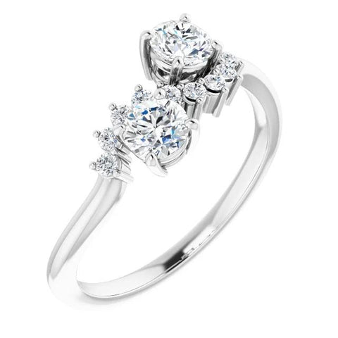 Engagement Round Diamond Ring F Vs1 Vvs1 White Gold 14K Jewelry Engagement Ring
