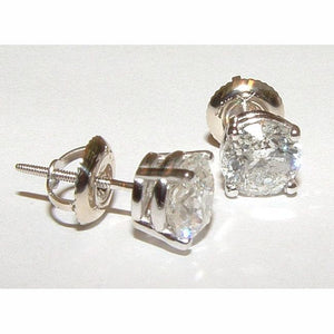 F Vs1 1.42 Carats Natural Diamond Studs Earrings New Gorgeous Stud Earrings