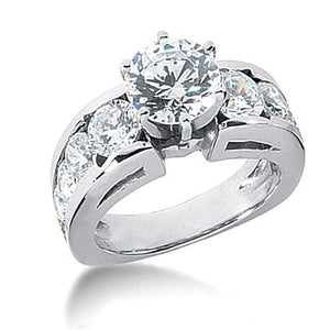 F Vs1 Diamonds  Engagement Ring Women  With Accents 4.25 Cts Engagement Ring