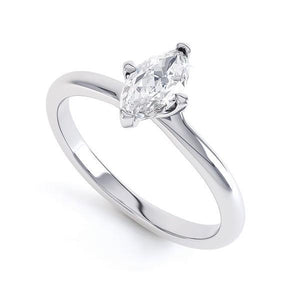 F Vs1 Marquise Cut 1.50 Ct Solitaire Diamond Wedding Ring White Gold Solitaire Ring