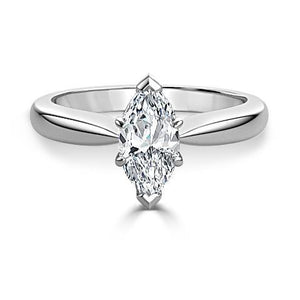 F Vs1 Marquise Cut 1.90 Ct Solitaire Diamond Wedding Ring White Gold Solitaire Ring