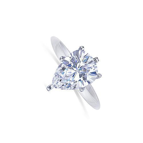 F Vs1 Pear Cut Diamond 1 Carat Solitaire Ring Jewelry Engagement Anniversary Solitaire Ring