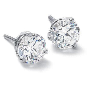F Vs1 Round Diamond Stud Earring Women Fine Gold Jewelry 2 Ct. Stud Earrings