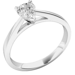 F Vs1 Solitaire Sparkling Pear Cut 1.75 Ct Diamond Wedding Ring Solitaire Ring