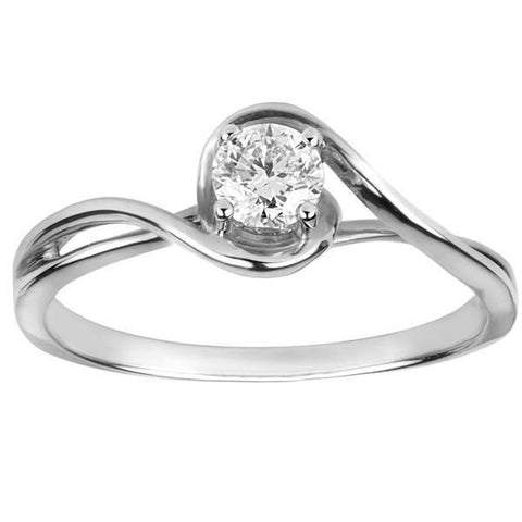 F Vs1 Sparkling Round Cut 1.5 Ct Diamond Solitaire Ring White Gold Solitaire Ring