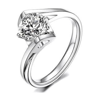 F Vs1 Sparkling Round Cut 2.85 Ct Diamond Anniversary Solitaire Ring Solitaire Ring