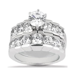 F Vvs1 Diamond Engagement Ring 3.06 Ct. Engagement Set Gold Engagement Ring Set