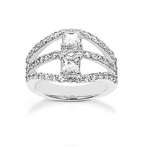 F Vvs1 Diamonds Ring 1.40 Cts. Jewelry White Gold New Ring