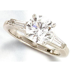 F Vvs1/Vs1 2.10 Ct Diamond Engagement Three Stone Ring Platinum Three Stone Ring