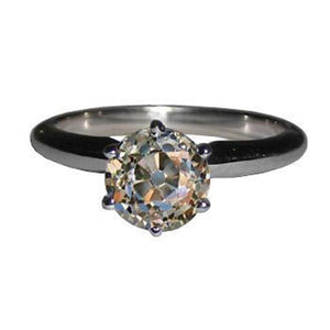 Fgold Miner White Gold 2 Old Miner Cut Gorgeous Diamond Ring Gold White 2 Ct. Ring