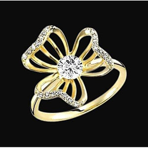 Flower Floral Unique Diamonds Ring 1.86 Carat Jewelry New Ring
