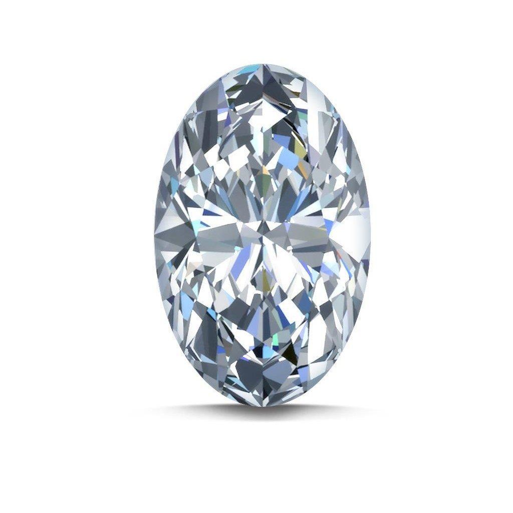 G Si Sparkling Oval Cut Natural Loose Diamond 2 Carats Diamond