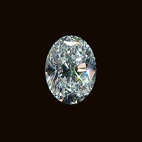 G Si1 Loose Oval Cut Diamond Sparkling Oval Diamond 2.85 Carats Loose Diamond