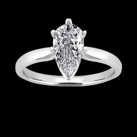 G Si1 Sparkling 2 Carat Diamond Solitaire Ring Pear Cut Diamond New Solitaire Ring