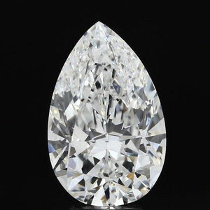 G Si1 Sparkling Pear Cut 4.00 Carat Big Loose Diamond New Diamond