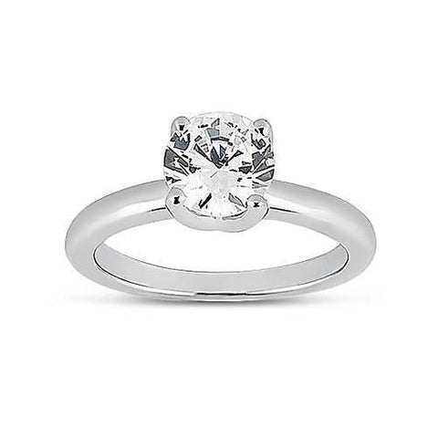 G Vs2 Solitaire 0.75 Carat Diamond Engagement Ring 14K Gold White Solitaire Ring