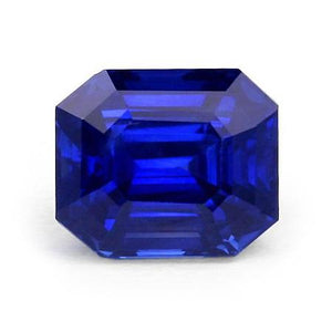 Gemstone Asscher Cut Ceylon Sapphire Natural Loose  Approx. 4 Carats Gemstone Loose