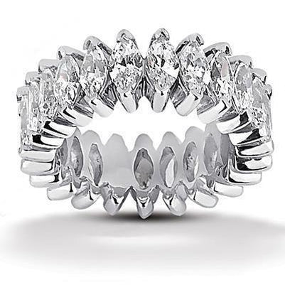 Genuine Diamonds Marquise Cut Eternity Band 11 Ct Eternity Band
