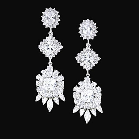 Gorgeous 2.5 Carat Diamond Chandelier Style Earring Pair Jewelry Gold Chandelier Earring