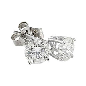 Gorgeous Diamond Studs Earrings 2 Cts Round Stud Earring Stud Earrings