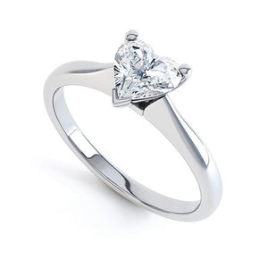 Gorgeous Heart Shape 1.60 Carat Solitaire Diamond Ring White Gold 14K Solitaire Ring