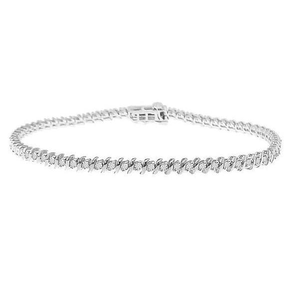 Gorgeous Round Cut 6.50 Ct Diamonds Tennis Bracelet White Gold 14K Tennis Bracelet