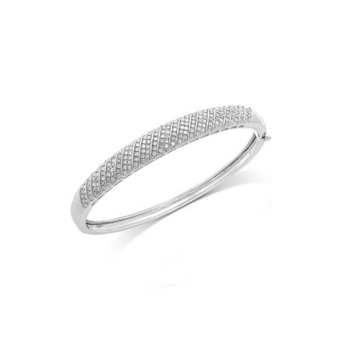 Gorgeous Small Round Cut 4.50 Ct Diamonds Bangle Bracelet White Gold Bangle
