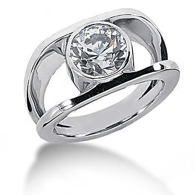 Gorgeous Solitaire Diamond Women Ring Anniversary Jewelry 1 Carat Mens Ring