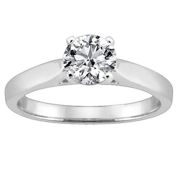 H Si1 Diamond Solitaire Ring Cathedral Setting 1.51 Carat Diamond Ring Gold Solitaire Ring