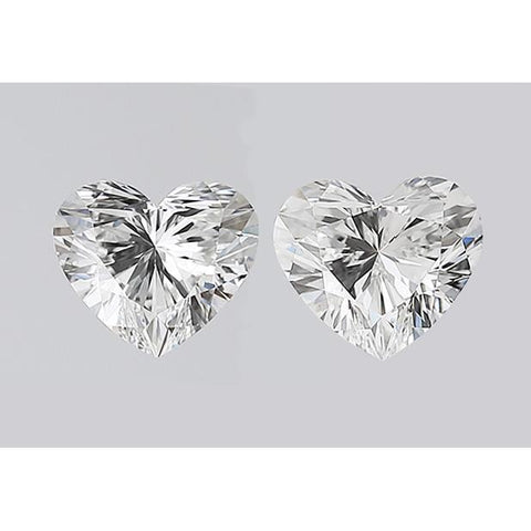 Heart Cut Loose Diamond Pair 2 Carats E Vs1 Heart Shape Pair Of Diamonds Diamond