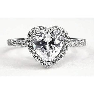 Heart Diamond Halo Ring Halo Ring