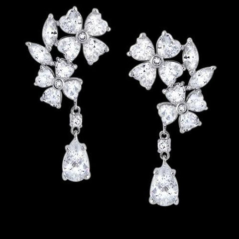 Heart Marquise & Pear Diamonds 2.5 Carat Earring Chandelier Diamond Earring Chandelier Earring