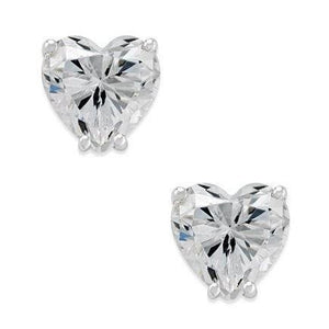 Heart Shape Diamonds Stud Earrings 3.50 Ct White Gold 14K Stud Earrings