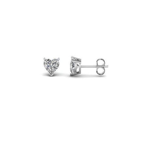 Heart Shape Solitaire Earrings 2 Carats F Vs1 Gorgeous Diamond Stud Stud Earrings