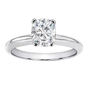 Huge 3 Ct. Cushion Diamond Solitaire Ring White Gold Solitaire Ring