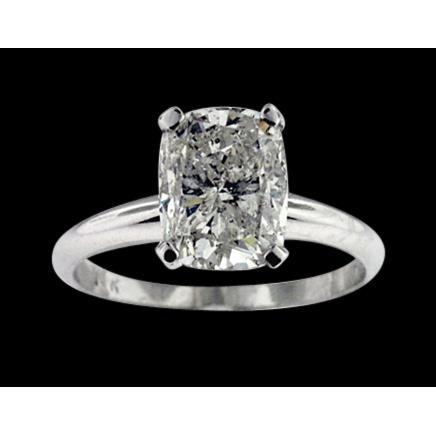 I Si1 Radiant Cut Diamond Solitaire Ring 2 Carats Solitaire Ring