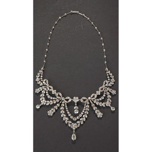 Ladies Necklace With Chain 39 Ct Sparkling Diamonds White Gold 14K Chains Necklace